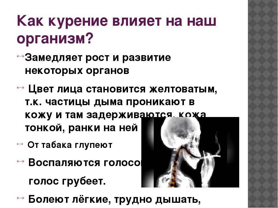 Что происходит в мужском организме при курении?