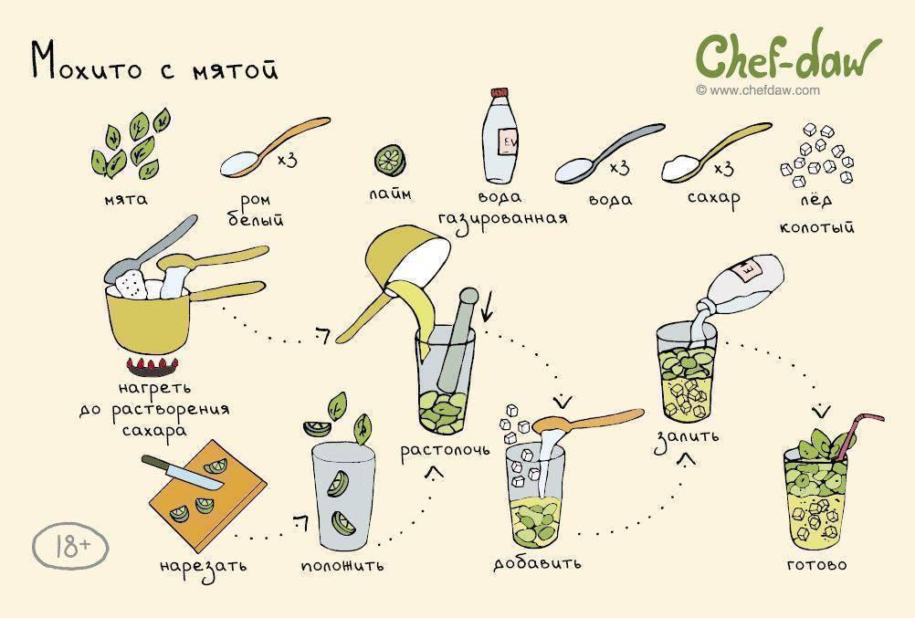 Как приготовить коктейль мохито алкогольный. как приготовить алкогольный мохито с водкой в домашних условиях по пошаговому рецепту