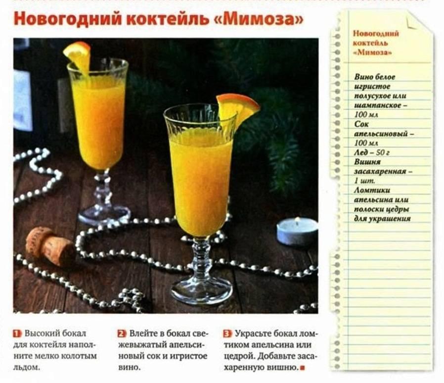 Коктейль «мимоза» - - рецепт, состав, пропорции