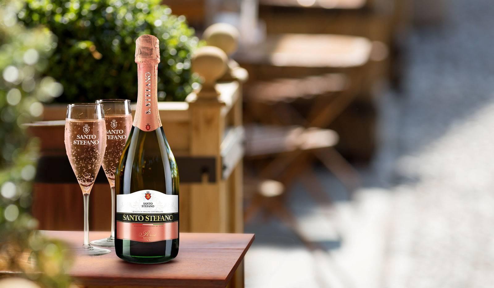 Санто стефано (santo stefano) шампанское розовое, фиолетовое, красное. виды, вкусы, фото, отзывы, цена, где купить