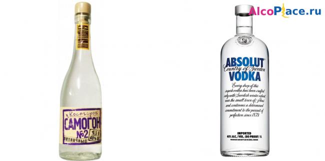 В чем отличия самогона от водки? что лучше пить?