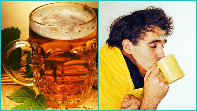 Горячее и теплое пиво от горла – как лечить боль 2020