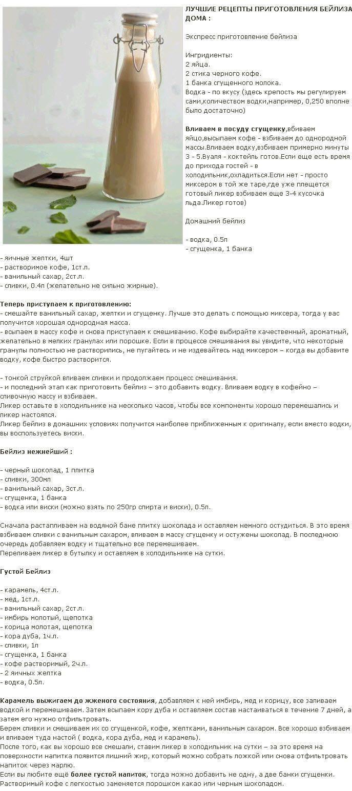Шоколадный ликер в домашних условиях: рецепт приготовления