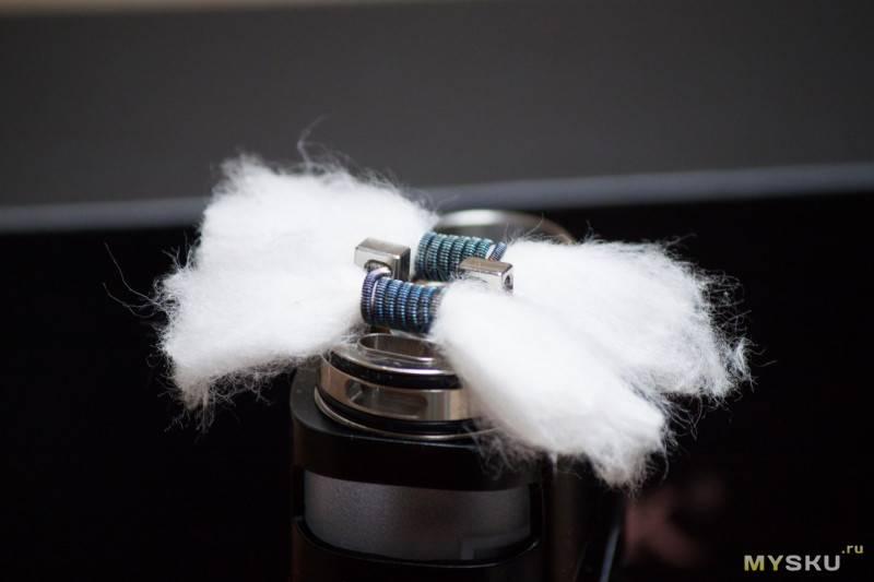 Как поменять вату на дрипке в электронной сигарете