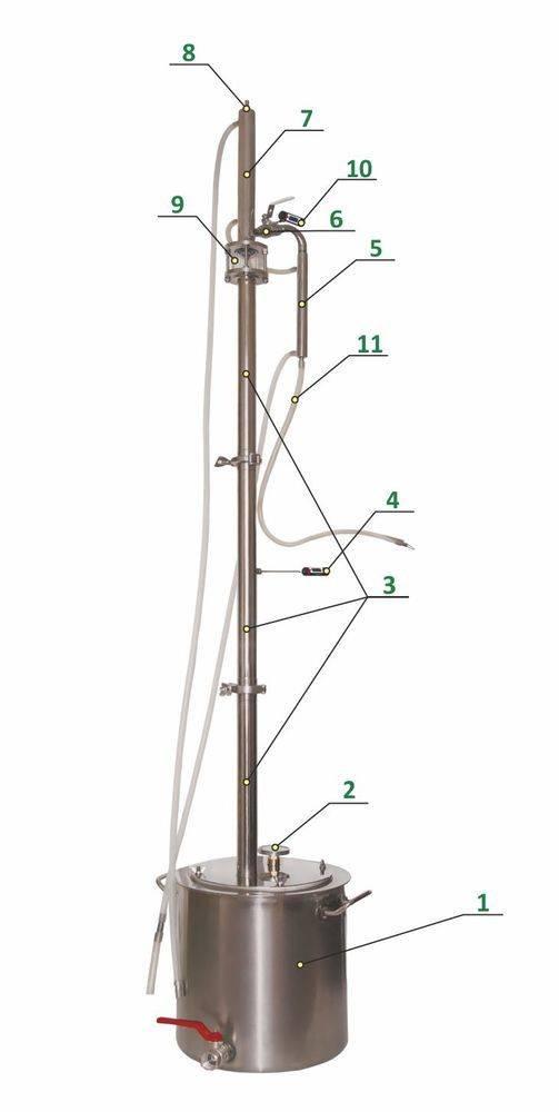 Ректификационная колонна своими руками: описание элементов, чертежи и схемы