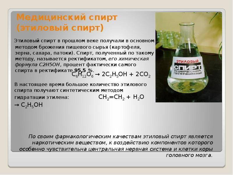 Спирт этиловый (spiritus aethylicus): описание, рецепт, инструкция
