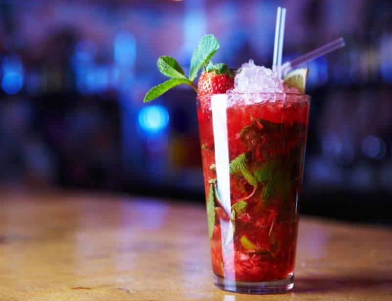 Алкогольный мохито с клубникой - вкусные рецепты от receptpizza.ru