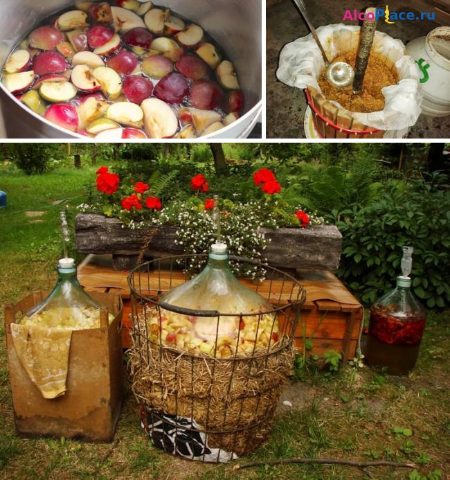"""Самогон из яблок – """"кальвадос"""" по домашнему"""