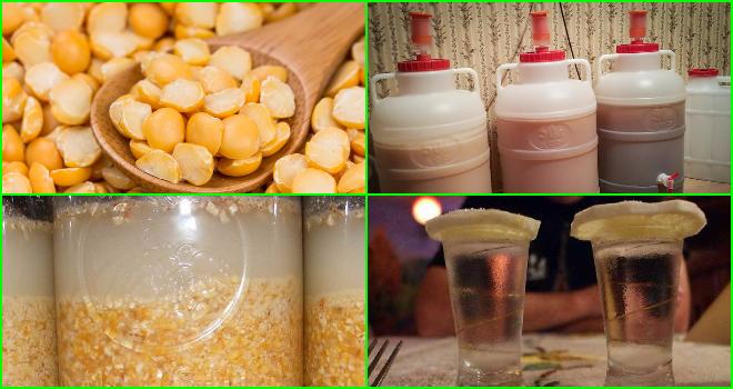 Брага на горохе: рецепт для самогона, пропорции, для чего добавляют горох