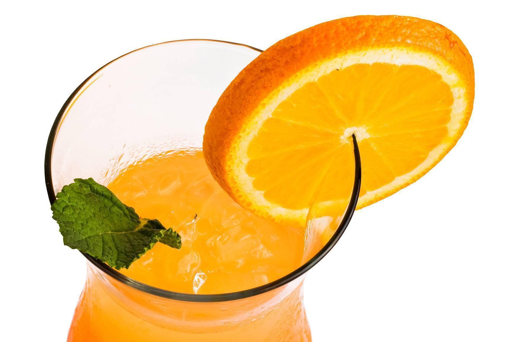 Рецепты приготовления коктейлей с апельсиновым соком