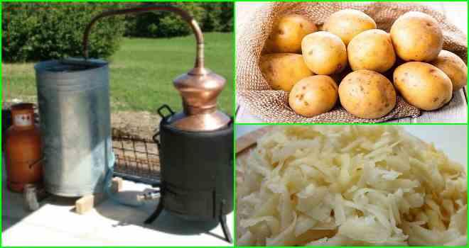 Самогон из картофеля: простой рецепт приготовления браги в домашних условиях, как сделать картофельную водку, спирт