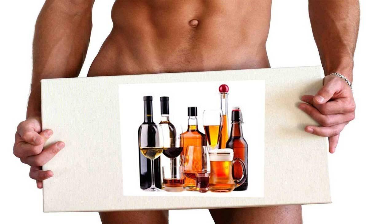 Мужская потенция и алкоголь