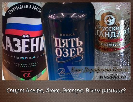 Какой спирт лучше альфа или люкс