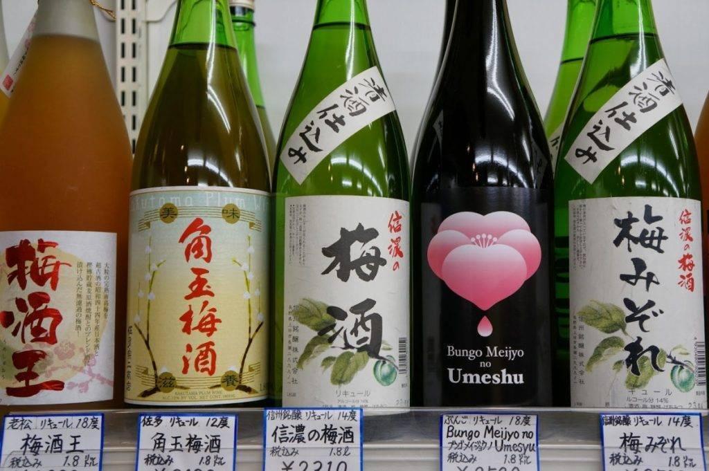 Сливовое вино из японии под названием умешу