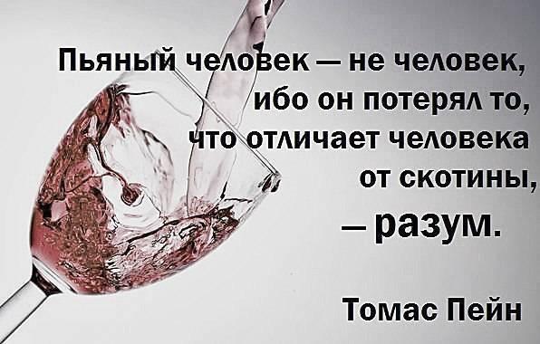 Цитаты про алкоголь