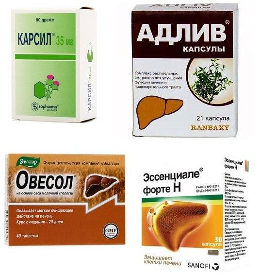 Лекарства и препараты для лечения цирроза печени (таблетки и средства)