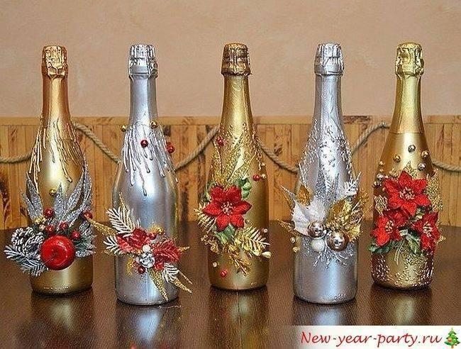 Украсить шампанское своими руками: варианты оформления подарочных бутылок (105 фото)