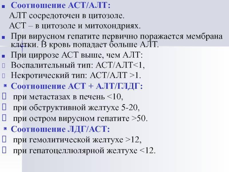 Показатели алт и аст при циррозе печени на ранней стадии