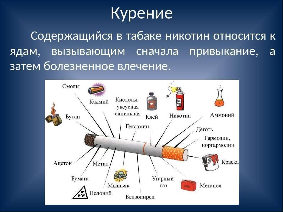 Содержание никотина в сигаретах: таблица
