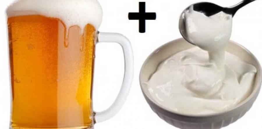 Пиво со сметаной для набора веса и потенции: рецепты