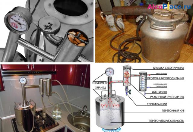 Типы самогонных аппаратов: разновидности, общие характеристики