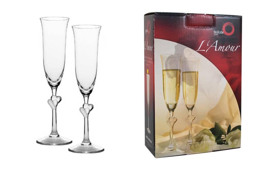 Виды бокалов и фужеров под шампанское