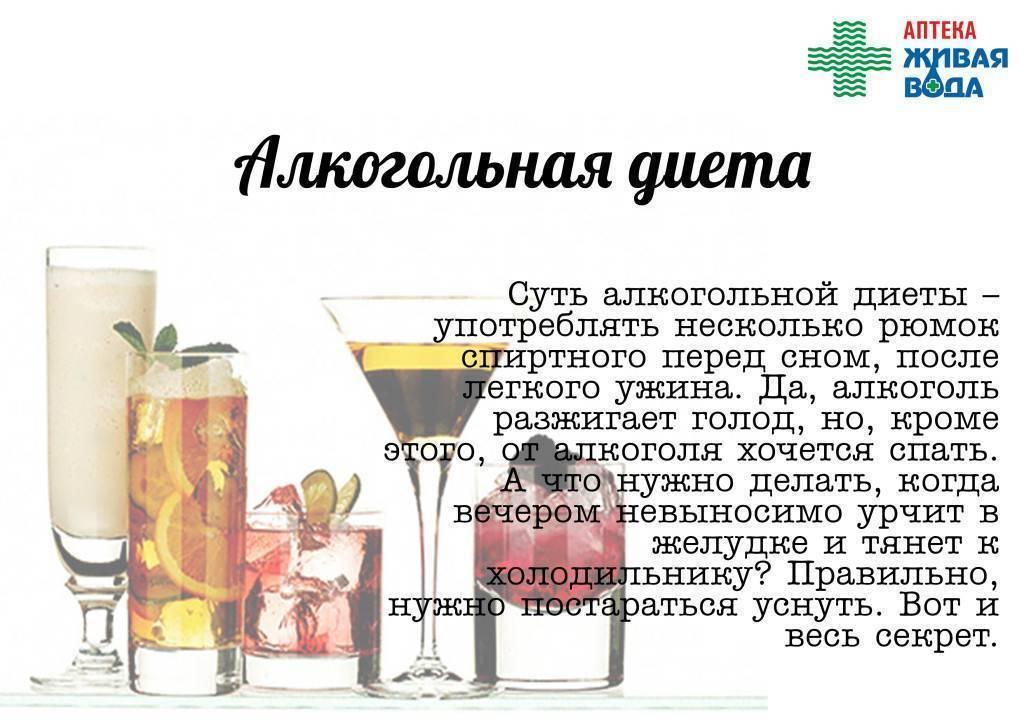Алкоголь и диеты для похудения - лучшие рецепты от gemrestoran.ru