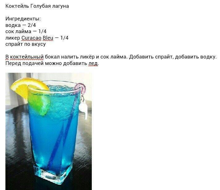 Как приготовить коктейль голубая лагуна по пошаговому рецепту с фото