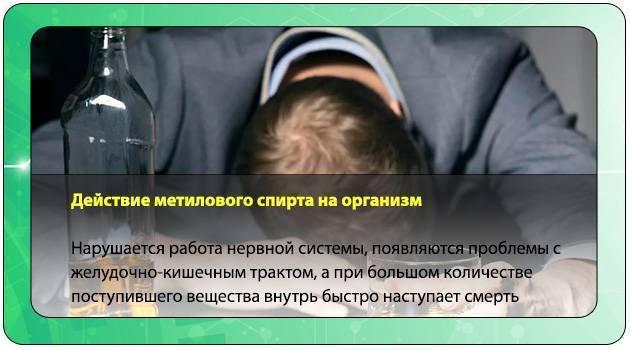 Отравление метанолом (метиловым спиртом): симптомы и первая помощь