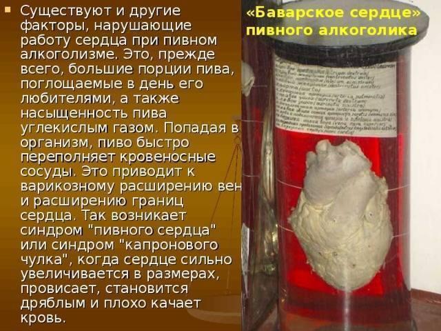 Пивное сердце: симптоматика и последствия. симптомы и лечение синдрома пивного сердца