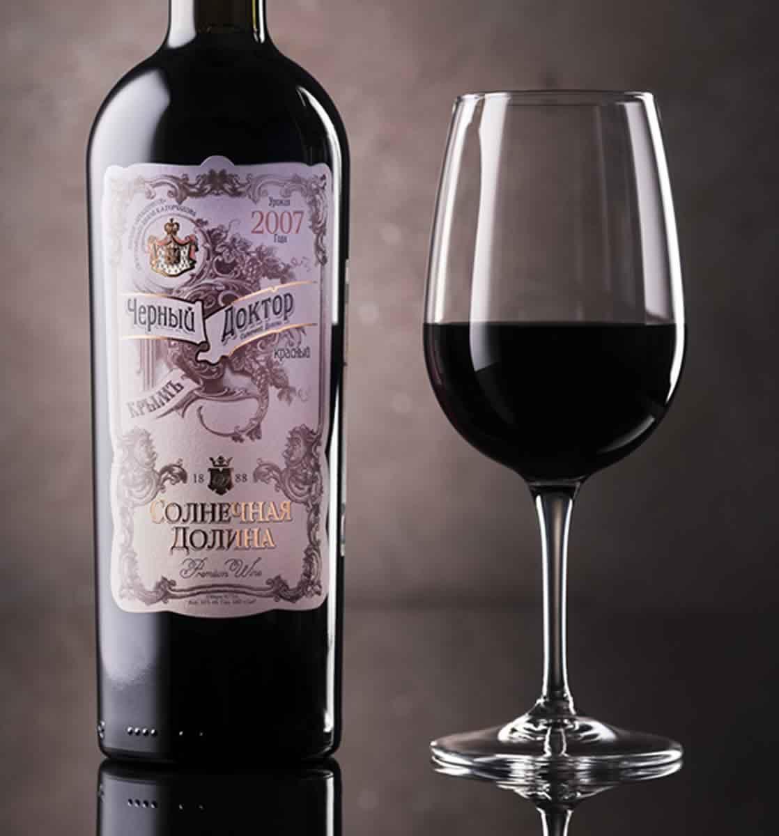 Вино черный доктор: массандра, солнечная долина и другие крымские марки напитка, технология производства, состав и полезные свойства