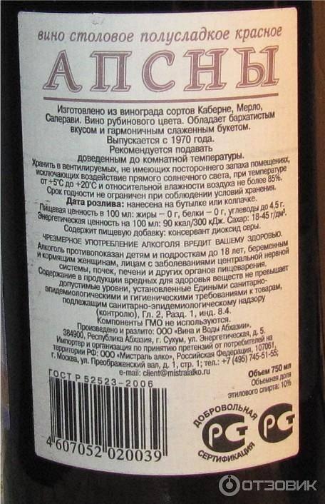 Все об абхазском вине псоу