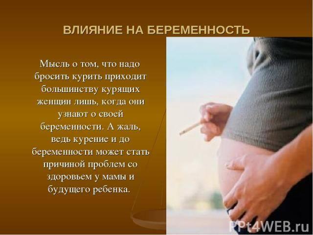 Влияние курения на репродуктивное здоровье партнеров