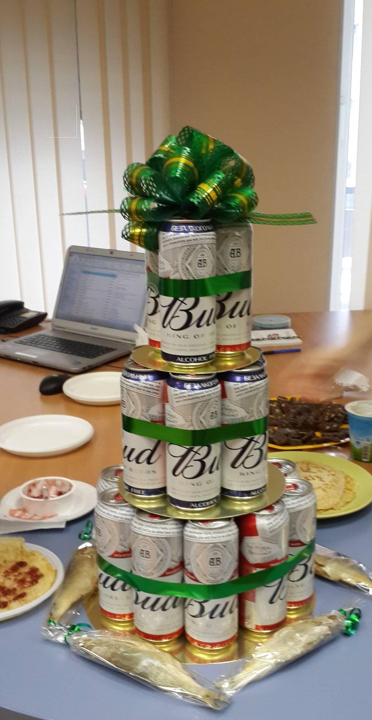 Тортик из пива для мужа. мастер-класс по созданию торта из пива. как сделать букет из мужских трусов
