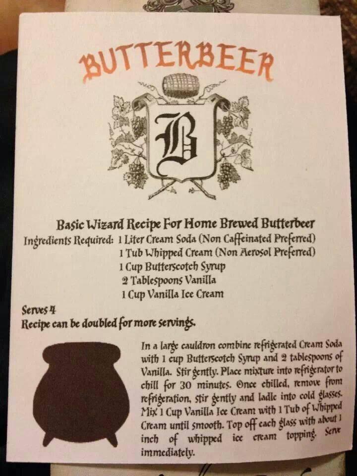 """Как приготовить сливочное пиво из фильма """"гарри поттер"""""""