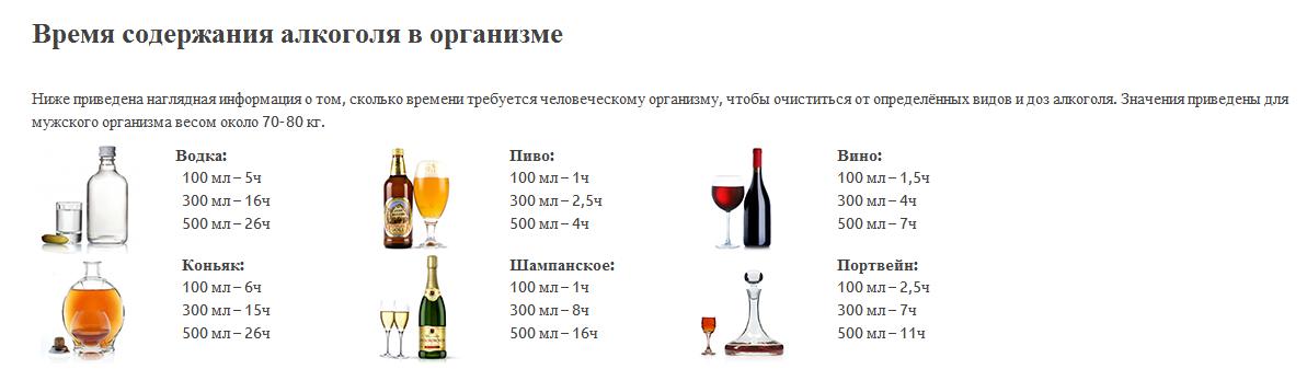 Автолюбителям: сколько держится алкоголь в крови