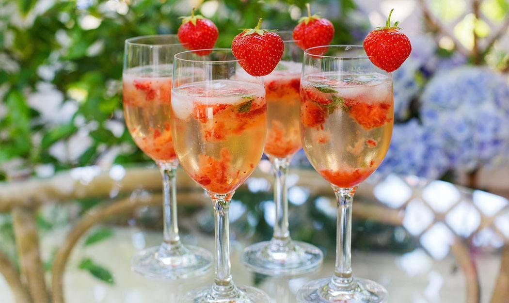 Коктейли с шампанским - рецепты в домашних условиях с мартини, водкой, коньяком и соком