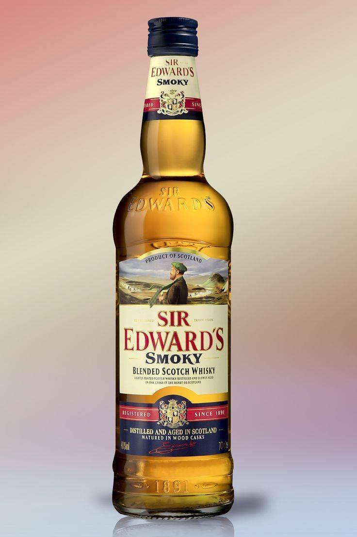 """Виски """"сэр эдвардс"""" (sir edwards) купажированный 1л крепость 40%"""