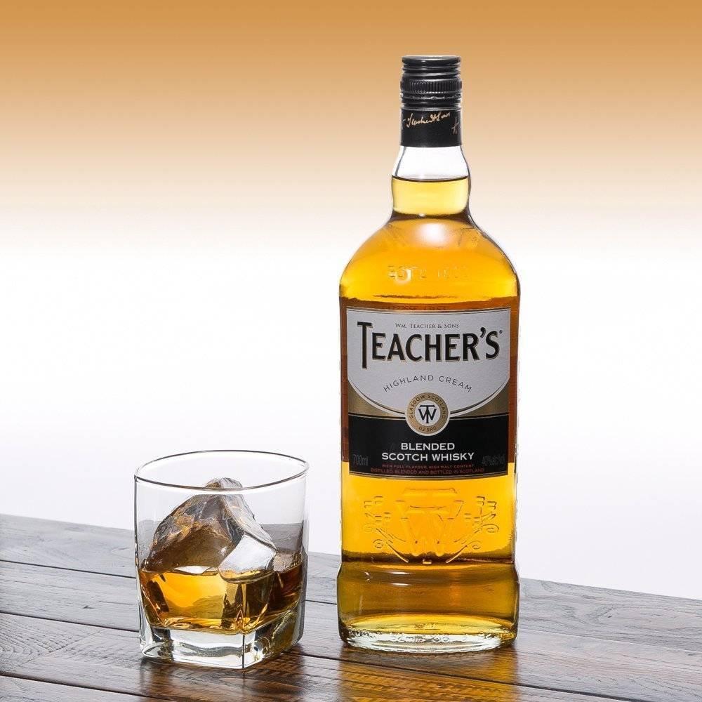 Виски «тичерс хайланд крим» (teacher's highland cream) купажированный 1л крепость 40%