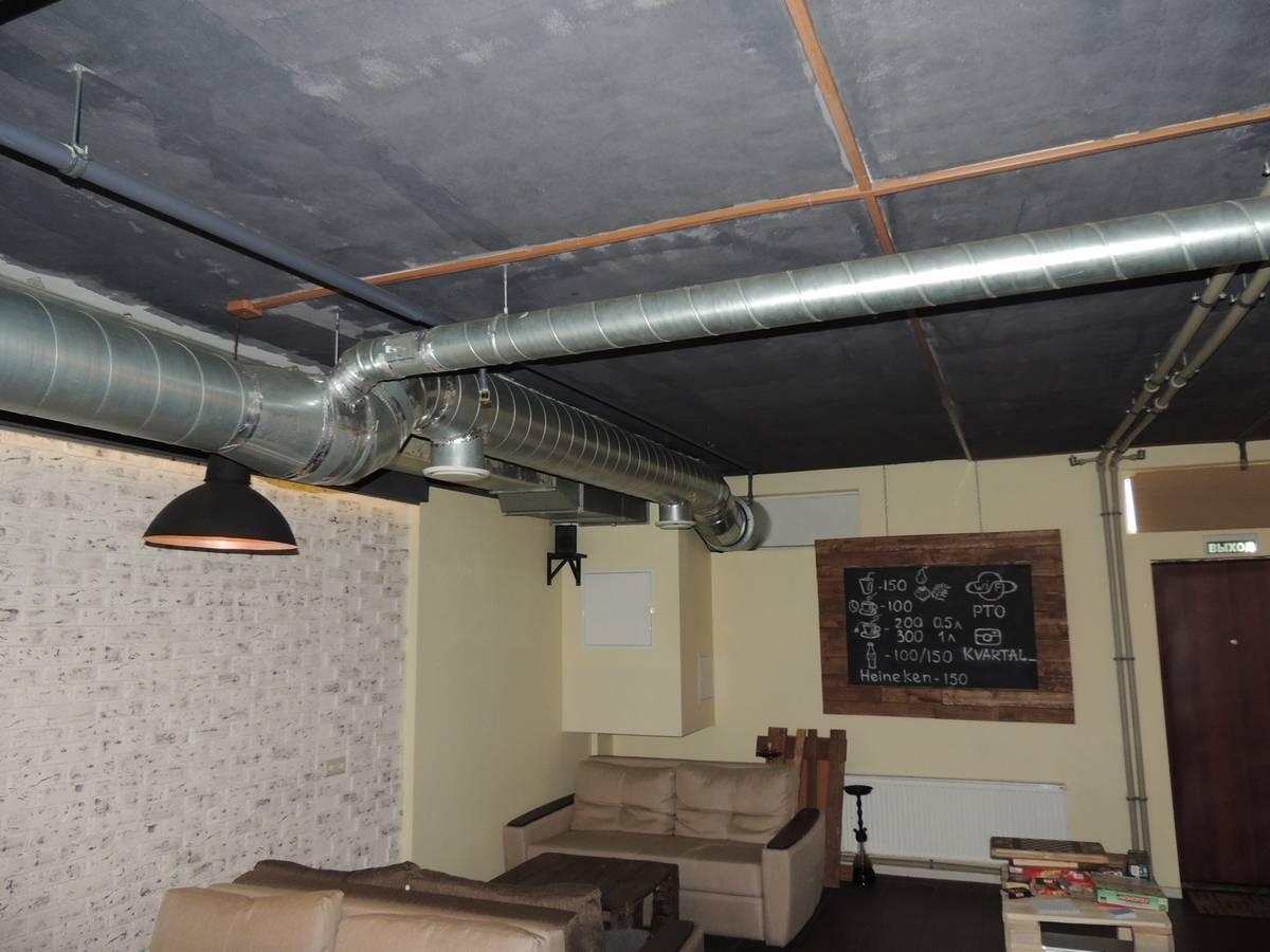 Вентиляция кальянной комнаты — правила выполнения