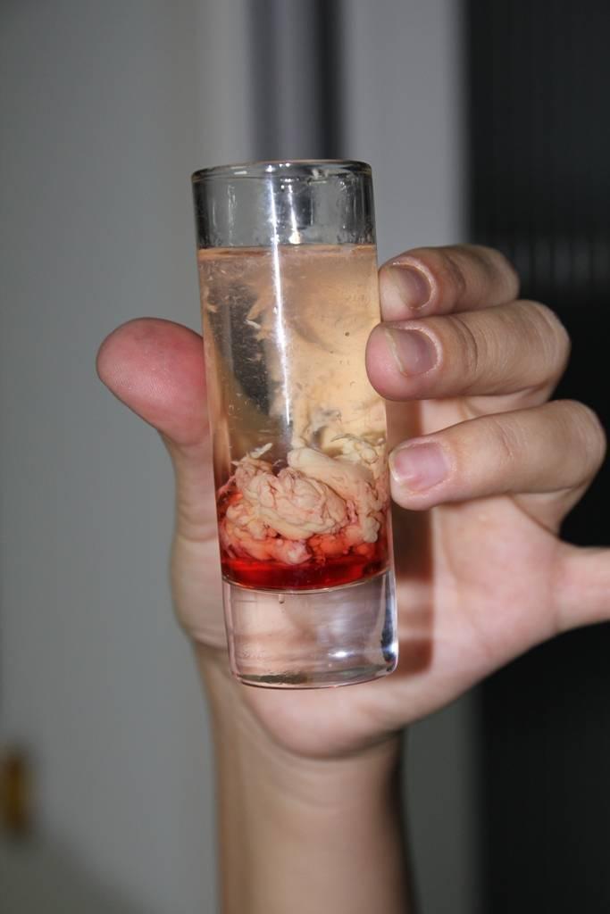 Как сделать коктейль опухоль мозга в домашних условиях