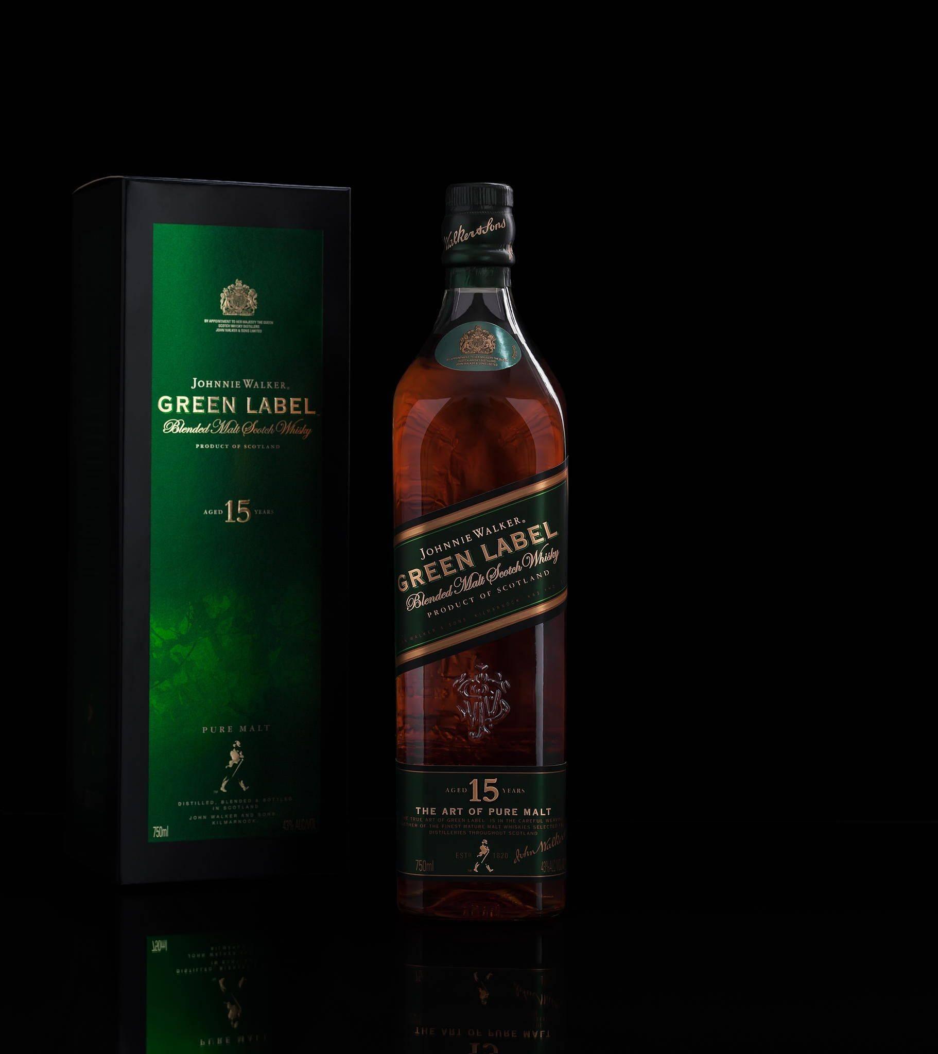Виски Johnnie Walker Green Label (Джонни Уокер Грин Лейбл) и его особенности
