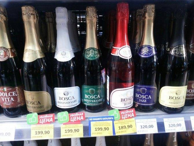 Сколько градусов в шампанском и сколько алкоголя в российском