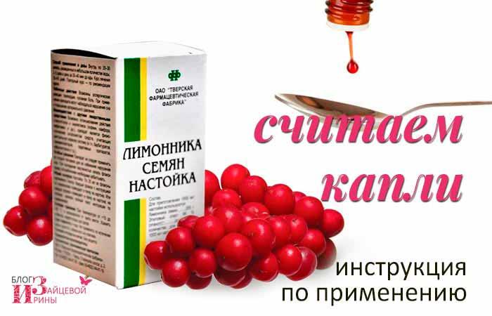 Настойка лимонника: обзор полезных свойств, описание применения, рецепты и отзывы