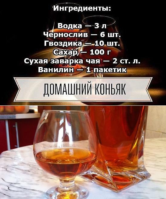 Коньяк из самогона в домашних условиях - 5 рецептов с фото пошагово