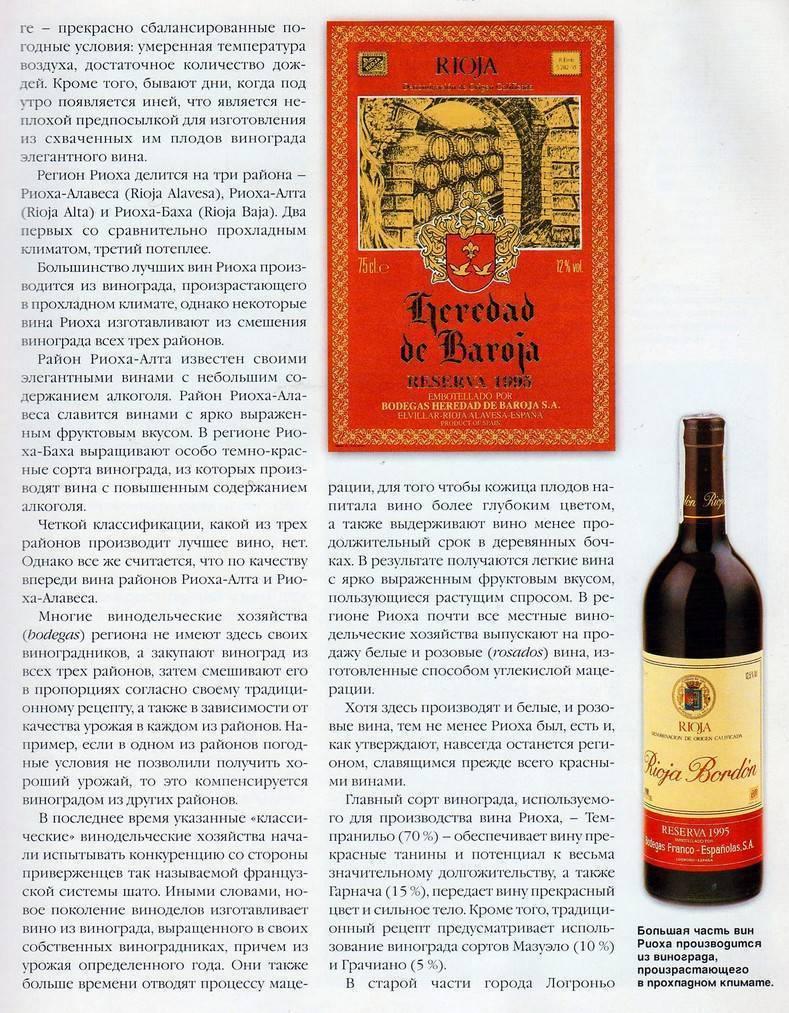 Как читать этикетку испанского вина