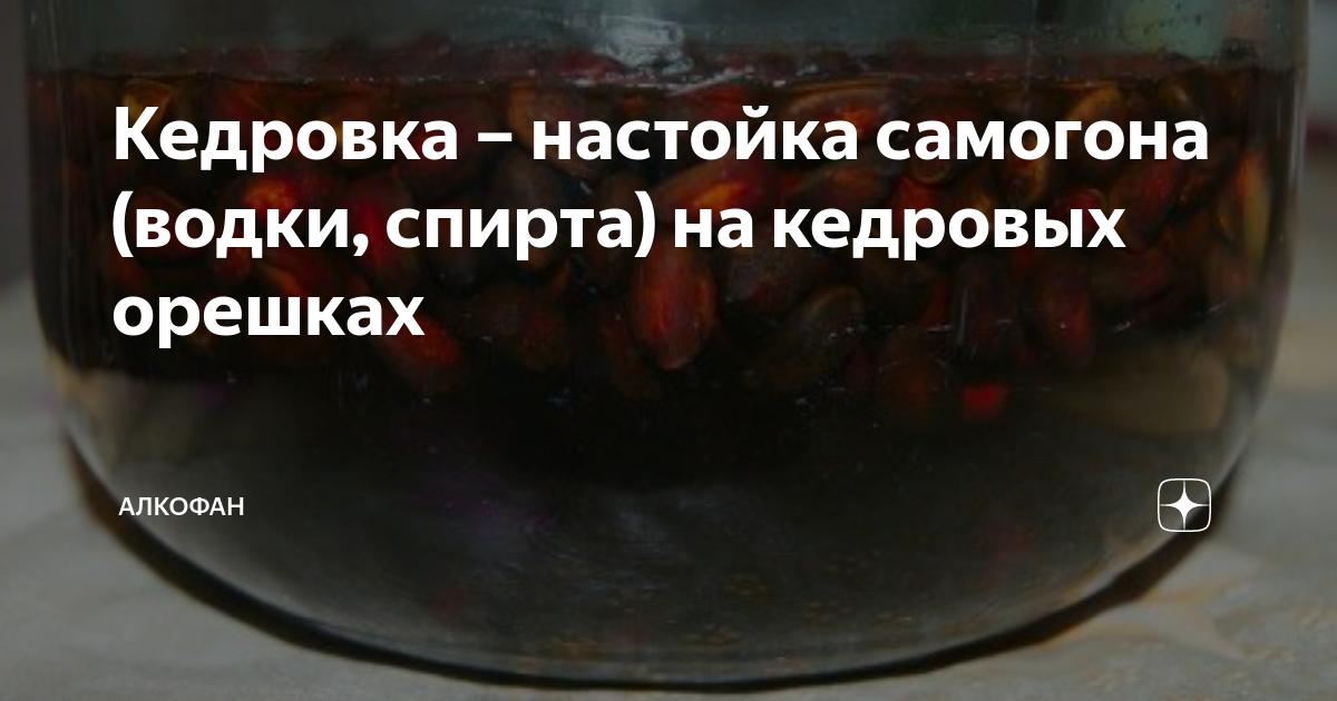 Кедровка – настойка самогона (водки, спирта) на кедровых орешках