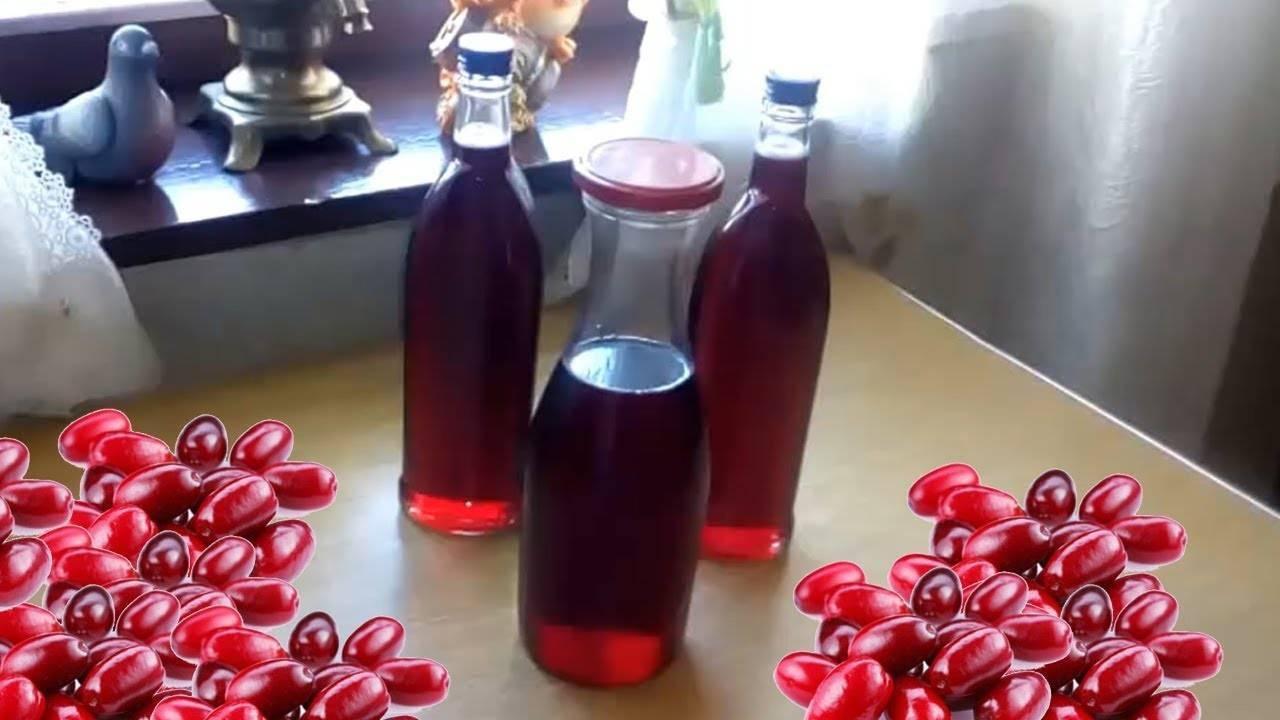 Наливка на ягодах кизила