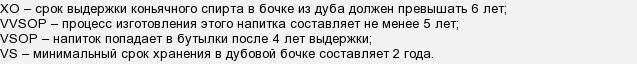 Коньяки xo, vs, vsop. расшифровка загадочных букв