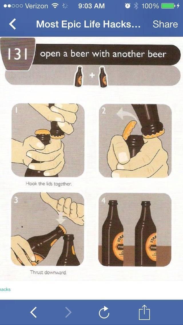 Открыть пиво без открывашки (открывалки) как?
